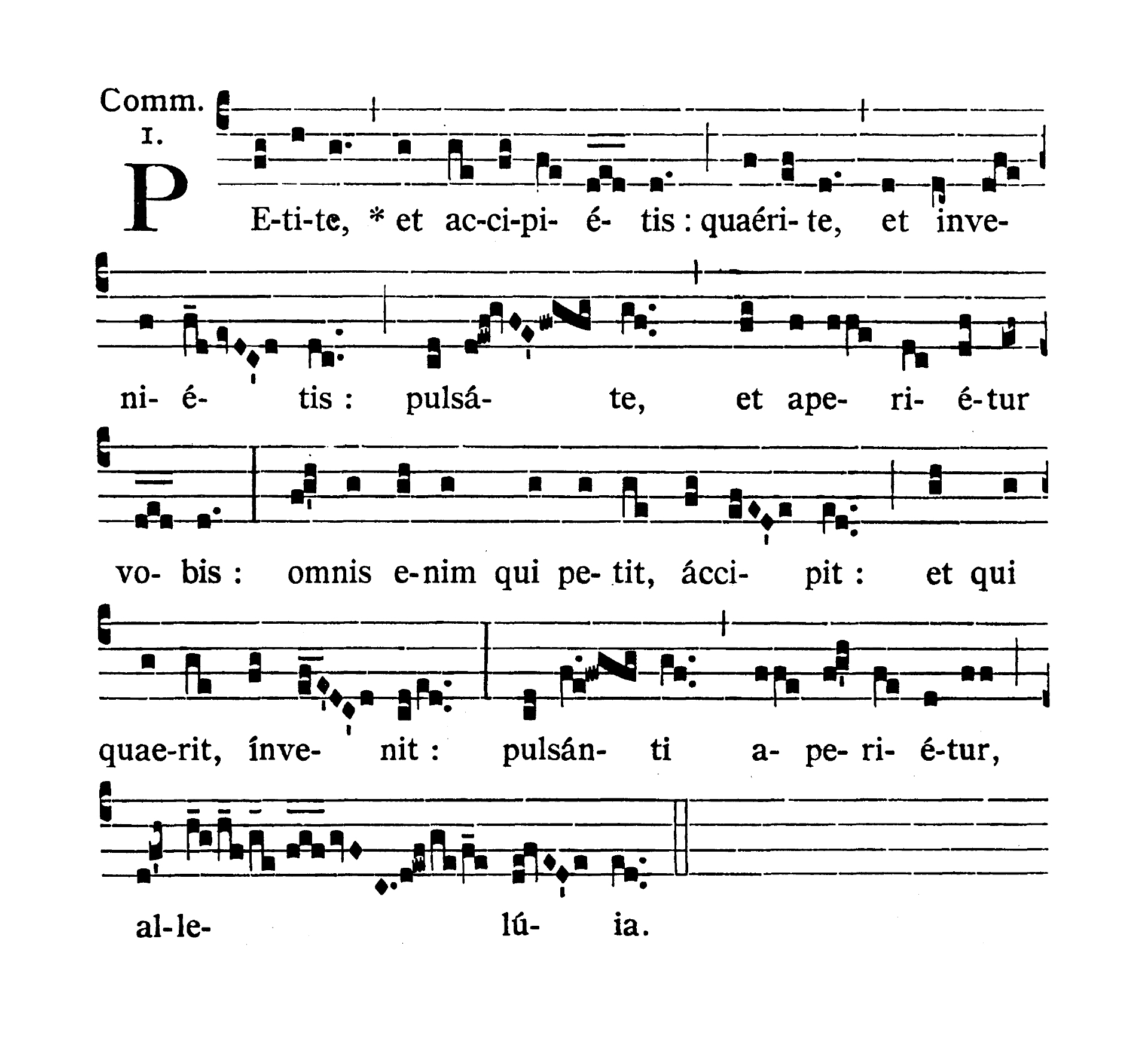 In Litaniis Majoribus et in Minoribus Tempore Paschale (Litanie większe i mniejsze w okresie Wielkanocnym) - Communio (Petite et accipietis)