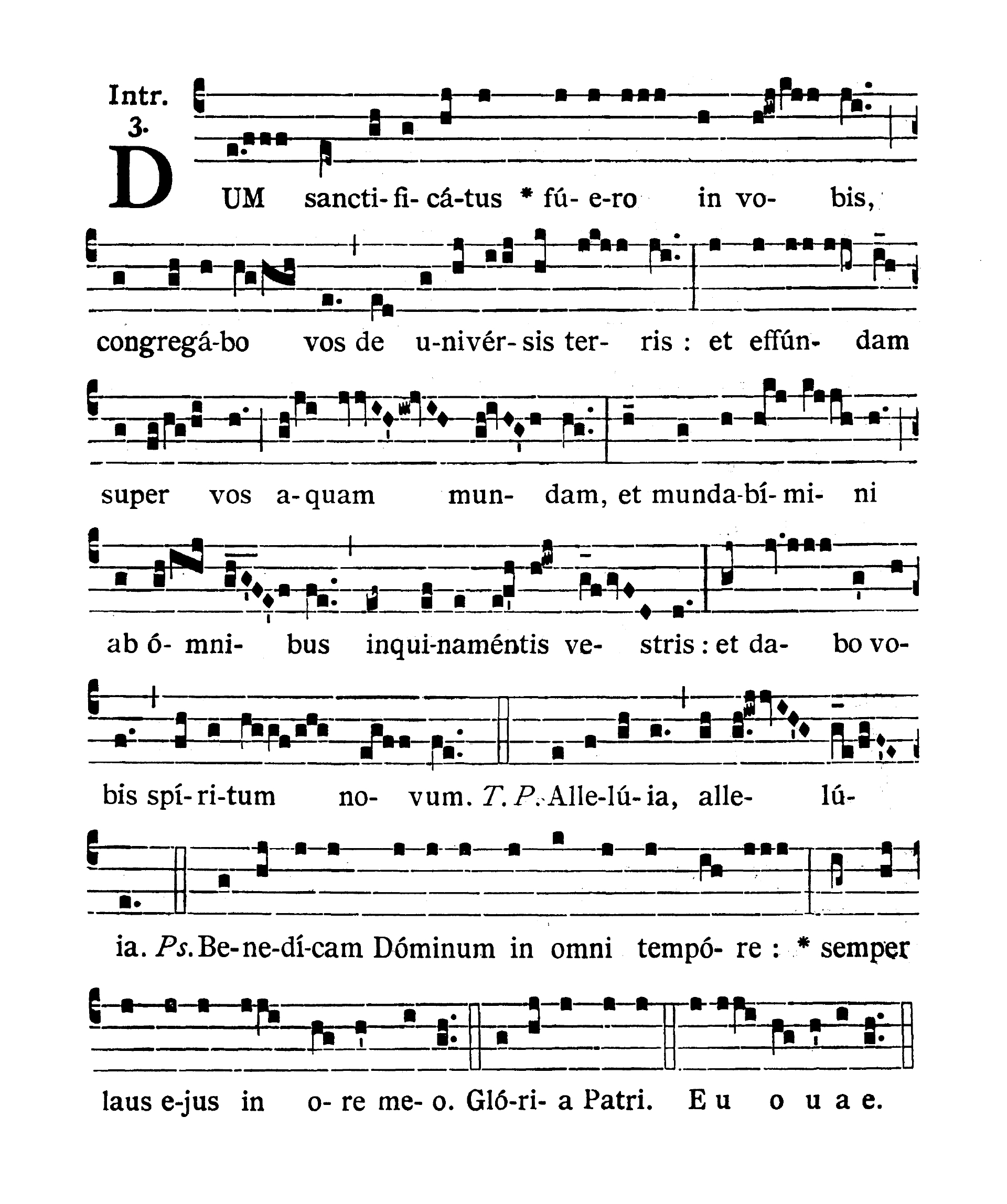 In Vigilia Pentecostes (Wigilia Zesłania Ducha Świętego) - Introitus (Dum sanctificdtus fuero)
