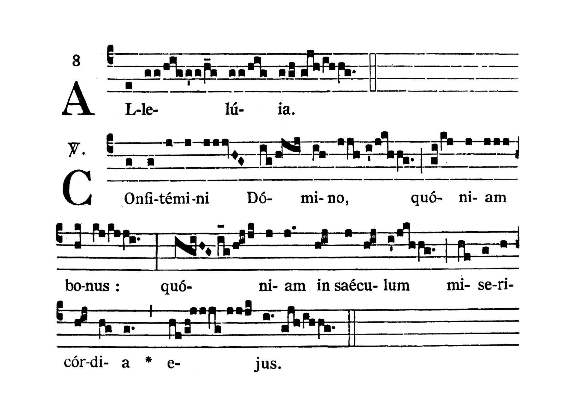 In Vigilia Pentecostes (Wigilia Zesłania Ducha Świętego) - Alleluia (Confitemini Domino)