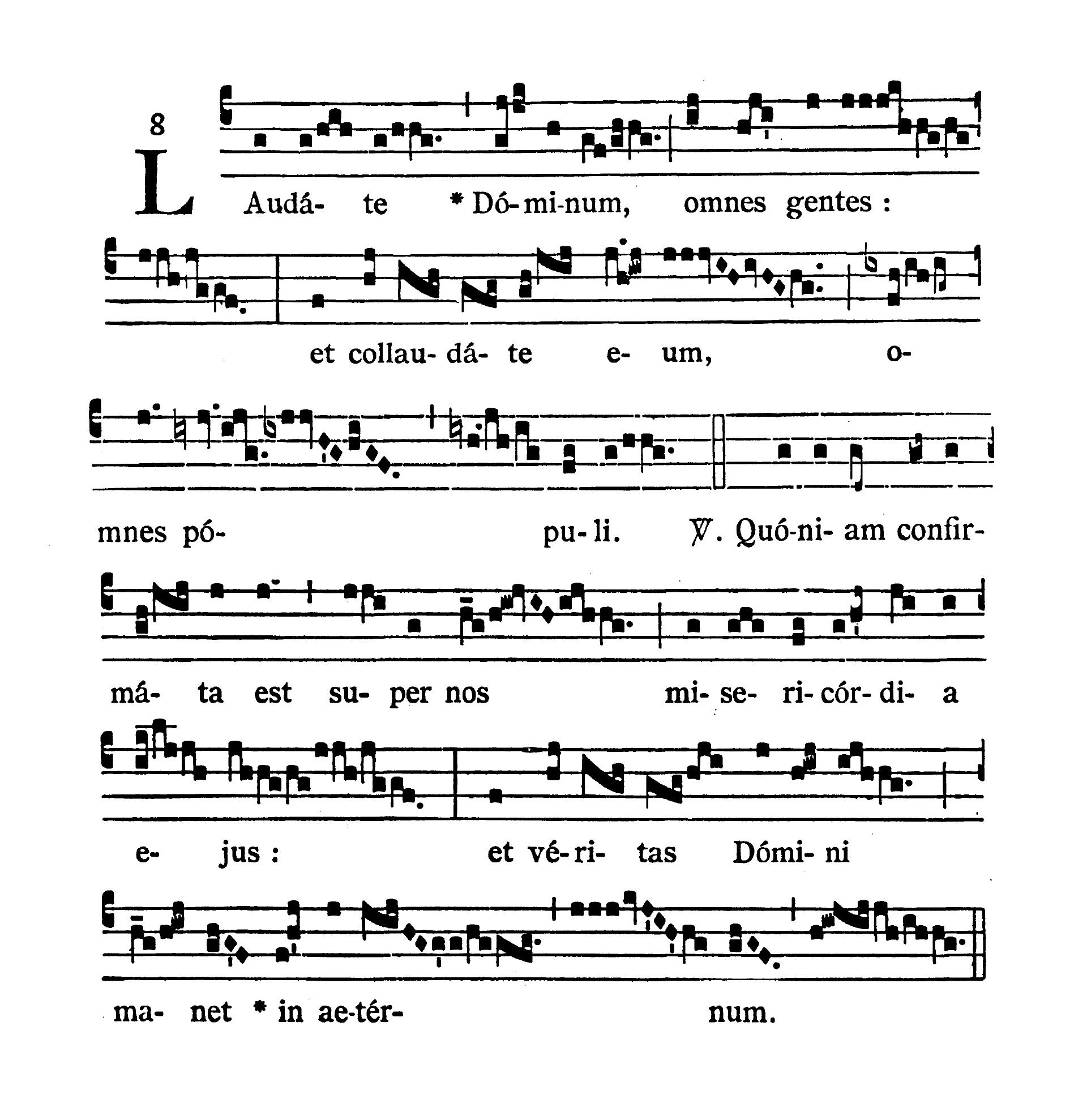 In Vigilia Pentecostes (Wigilia Zesłania Ducha Świętego) - Tractus (Laudate Dominum)