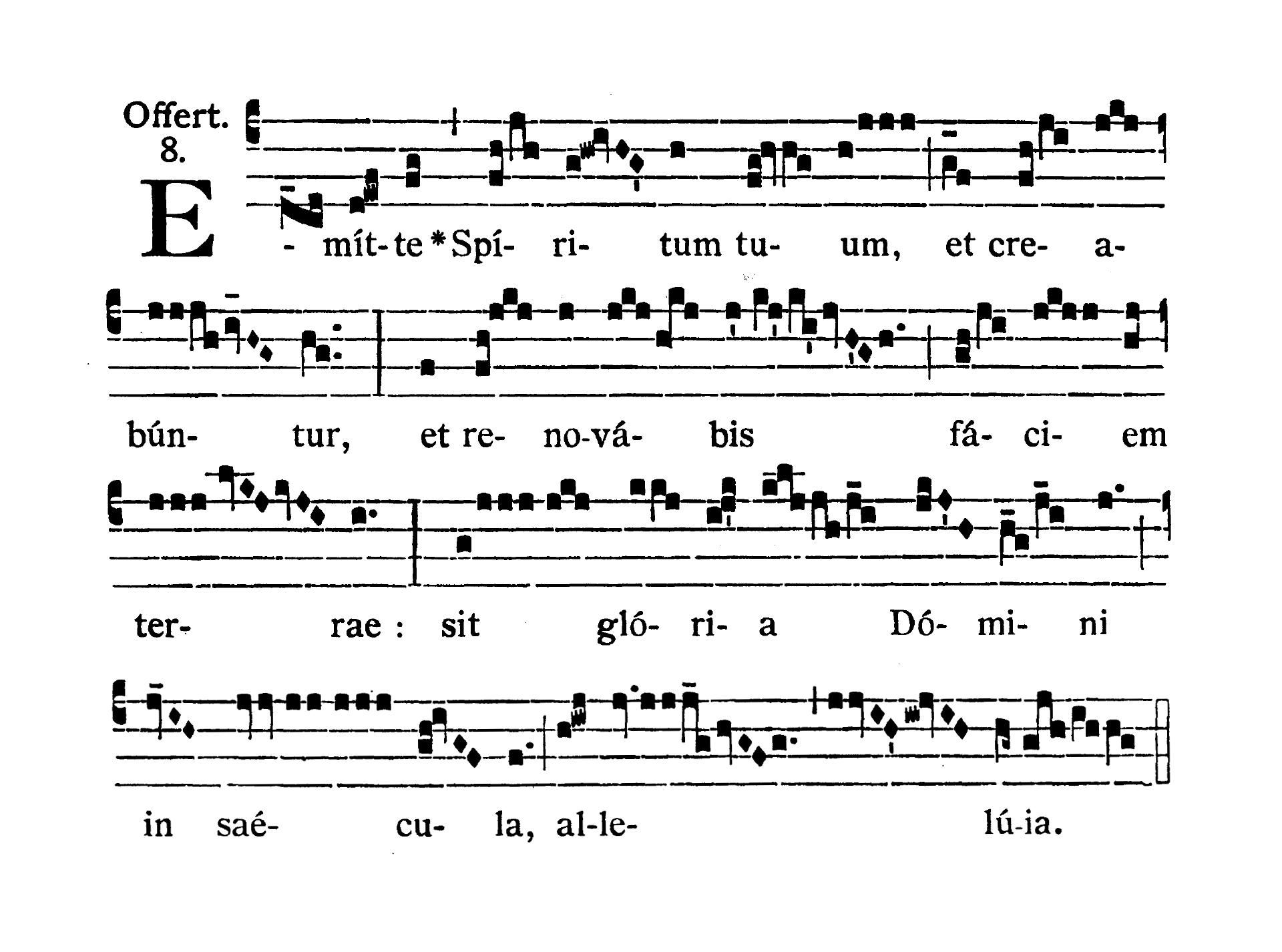 In Vigilia Pentecostes (Wigilia Zesłania Ducha Świętego) - Offertorium (Emitte Spiritum tuum)