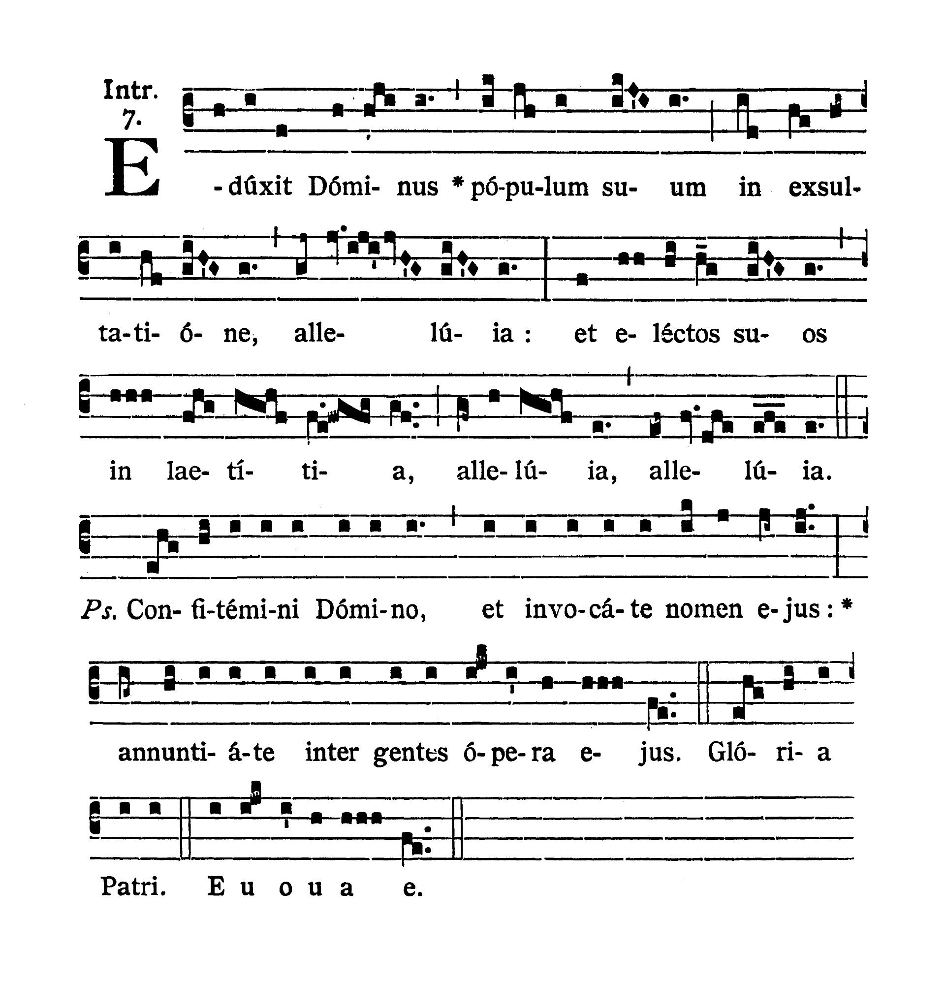 Sabbato in Albis (Biała sobota) - Introitus (Eduxit Dominus)