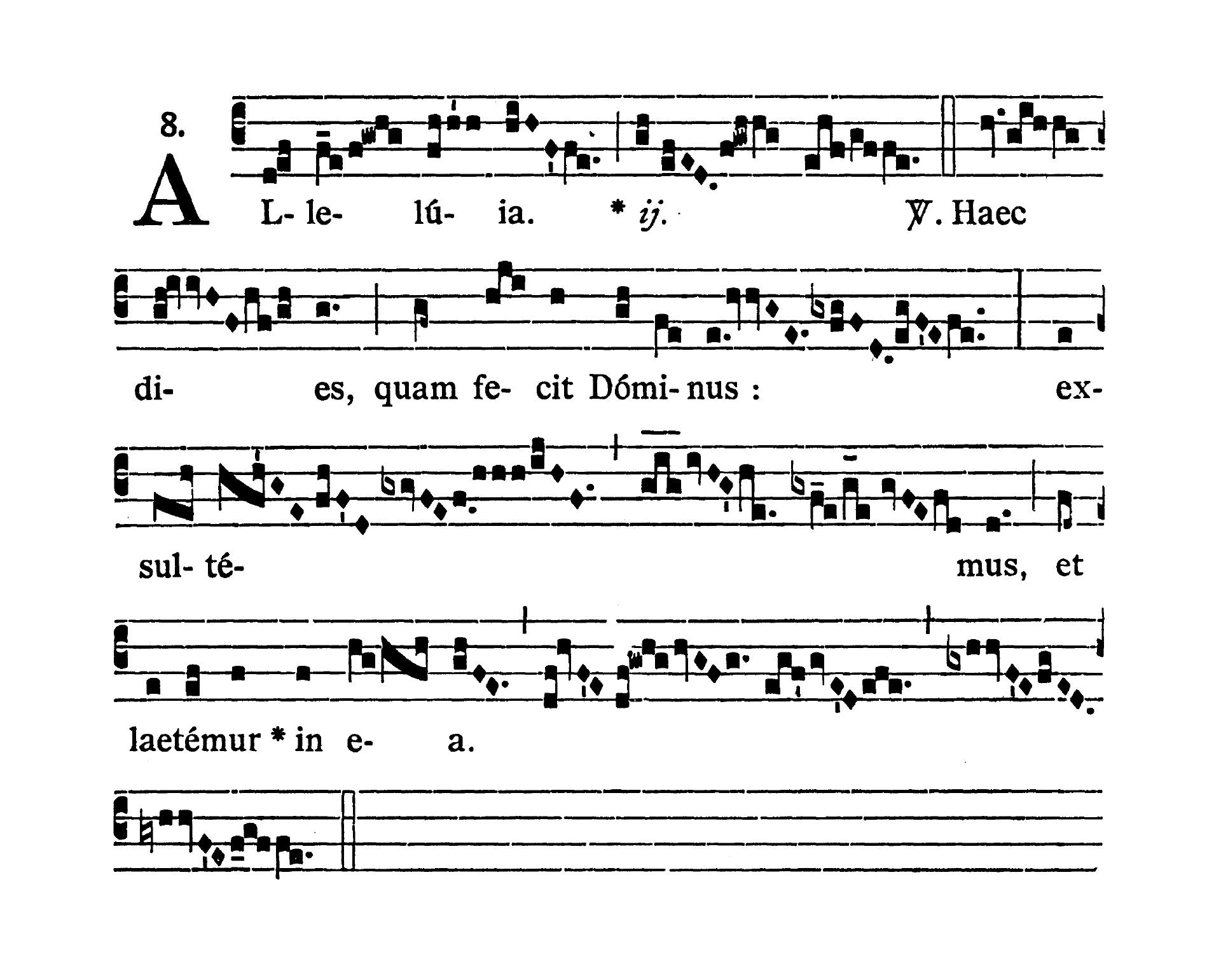 Sabbato in Albis (Biała sobota) - Alleluia prima (Haec dies)