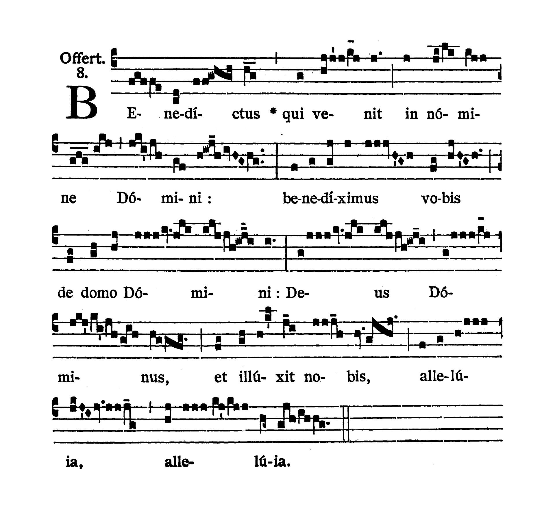 Sabbato in Albis (Biała sobota) - Offertorium (Benedictus)