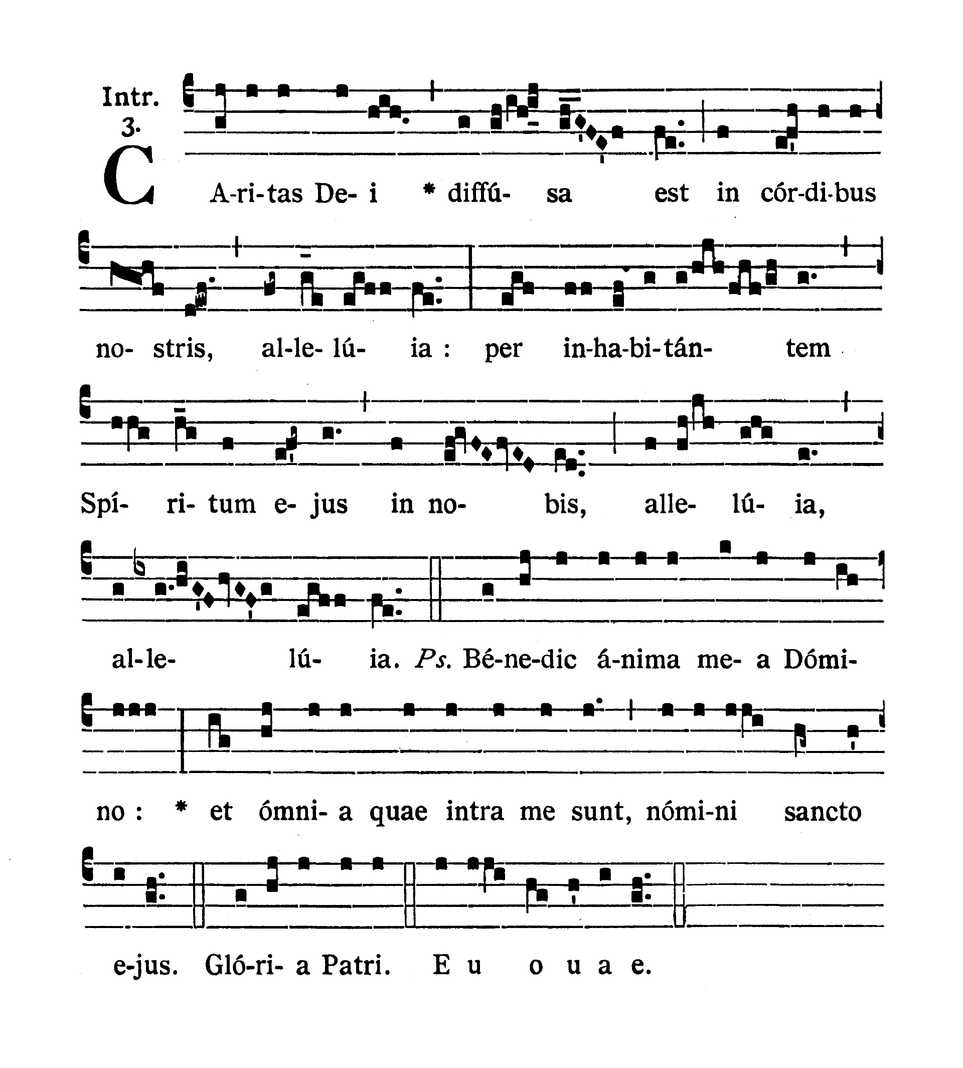 Sabbato infra Octavam Pentecostes (Sobota w oktawie Zesłania Ducha Świętego) - Introitus (Caritas Dei)