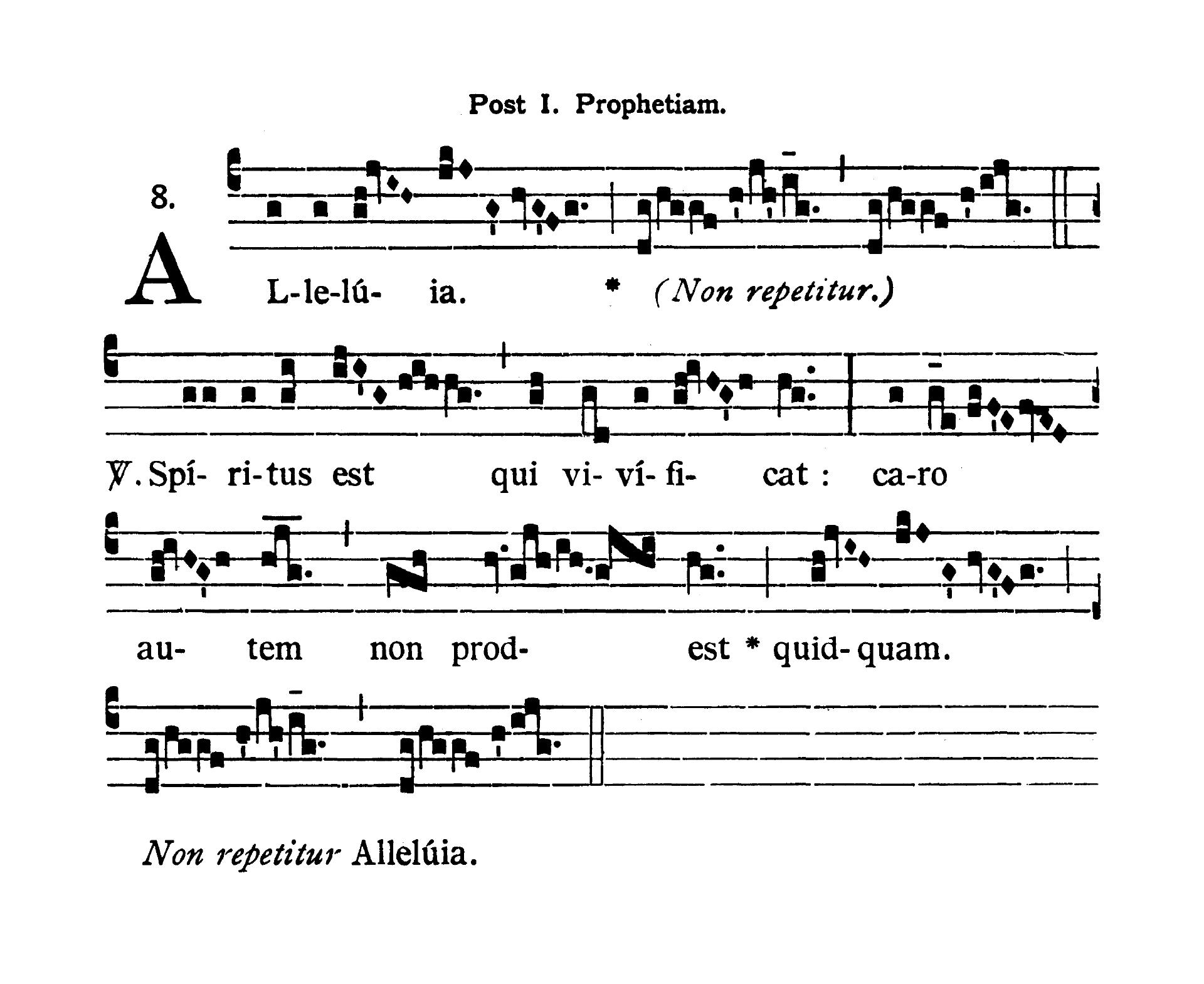 Sabbato infra Octavam Pentecostes (Sobota w oktawie Zesłania Ducha Świętego) - Alleluia prima (Spiritus est qui vivificat)