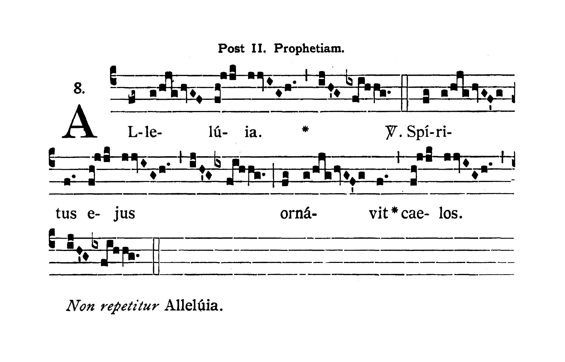 Sabbato infra Octavam Pentecostes (Sobota w oktawie Zesłania Ducha Świętego) - Alleluia secunda (Spiritus ejus ornavit)