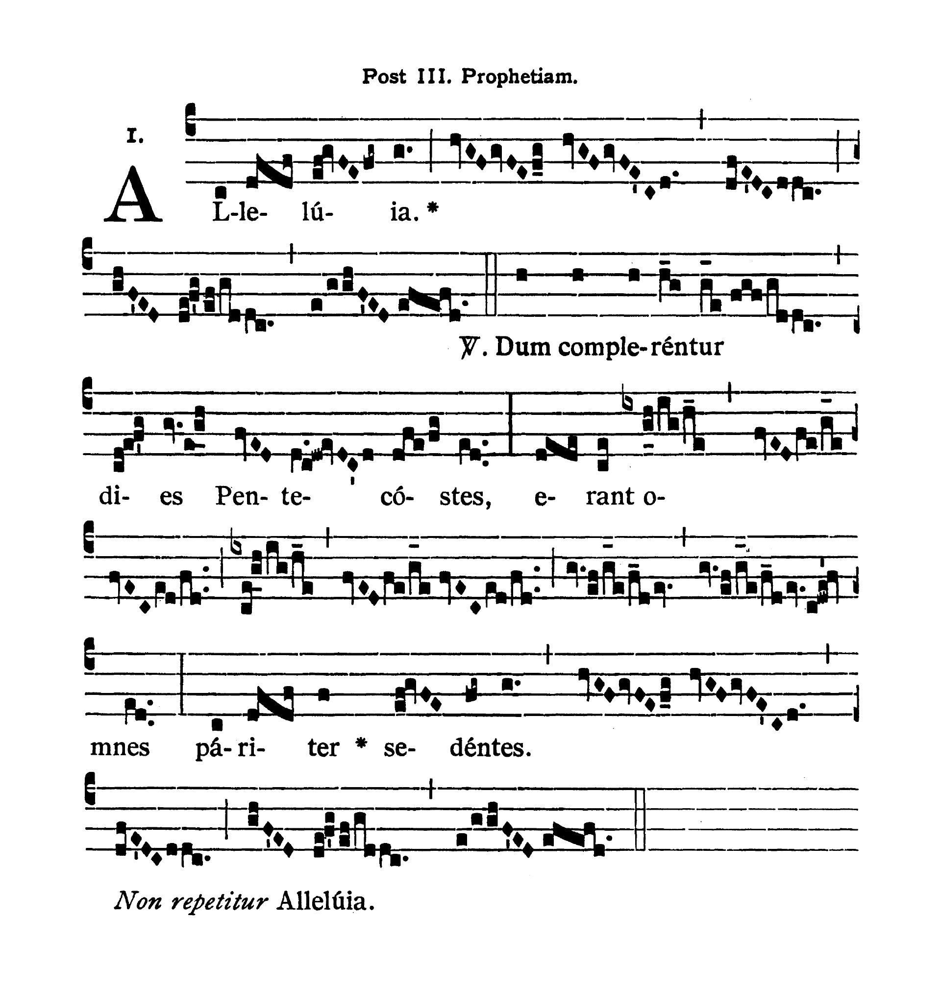 Sabbato infra Octavam Pentecostes (Sobota w oktawie Zesłania Ducha Świętego) - Alleluia tertia (Dum complerentur)