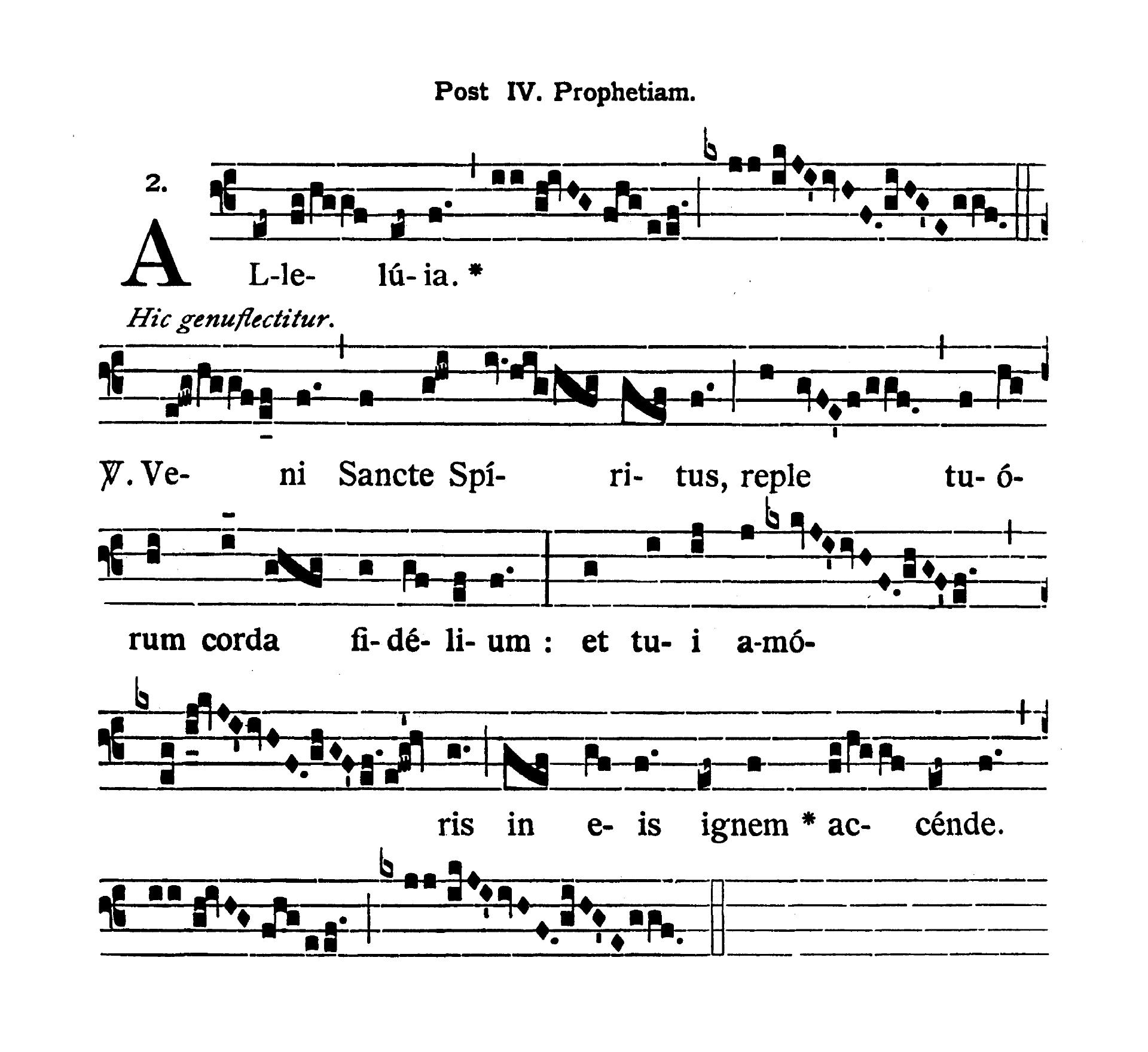 Sabbato infra Octavam Pentecostes (Sobota w oktawie Zesłania Ducha Świętego) - Alleluia quarta (Veni Sancte Spiritus)