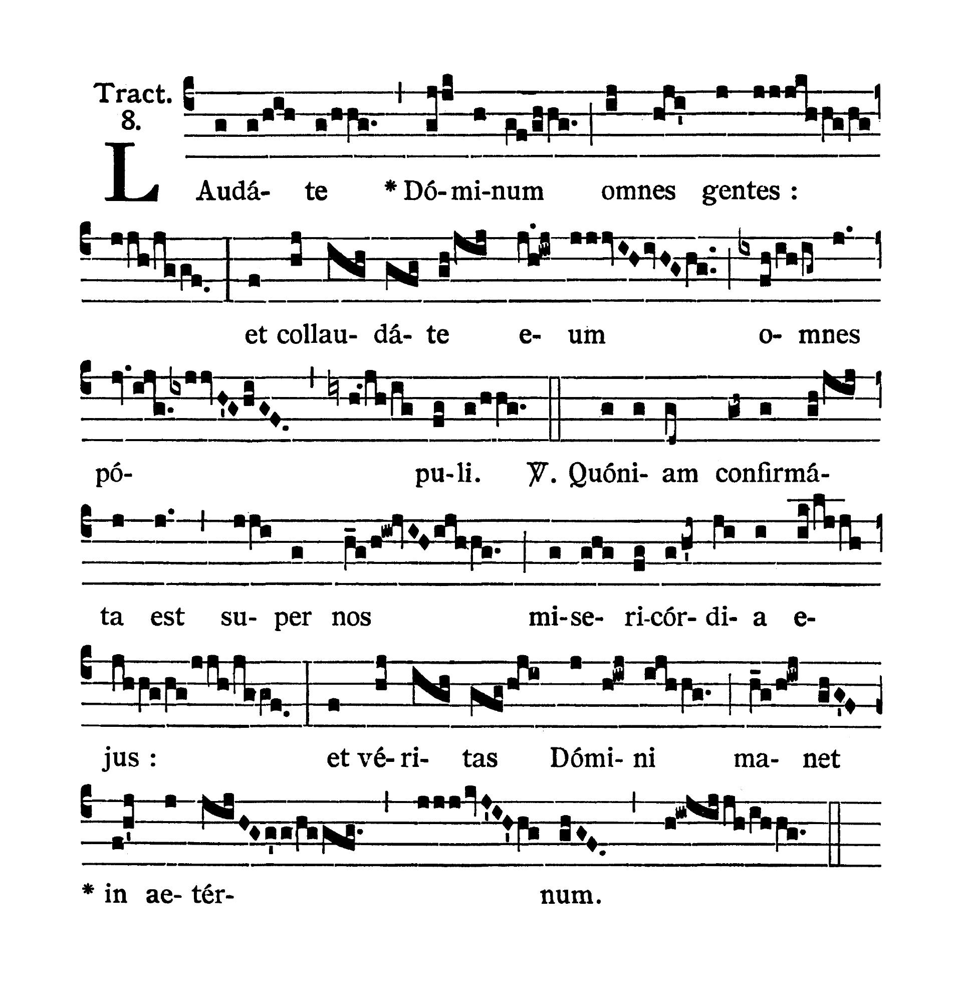 Sabbato infra Octavam Pentecostes (Sobota w oktawie Zesłania Ducha Świętego) - Tractus (Laudate Dominum)