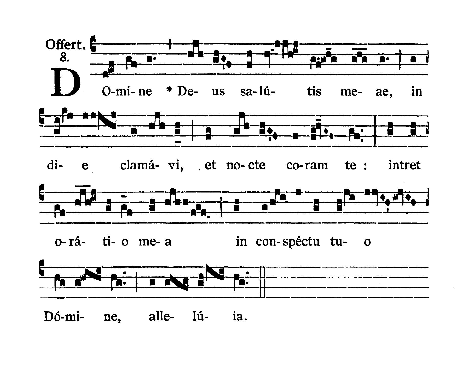 Sabbato infra Octavam Pentecostes (Sobota w oktawie Zesłania Ducha Świętego) - Offertorium (Domine Deus salutis meae)
