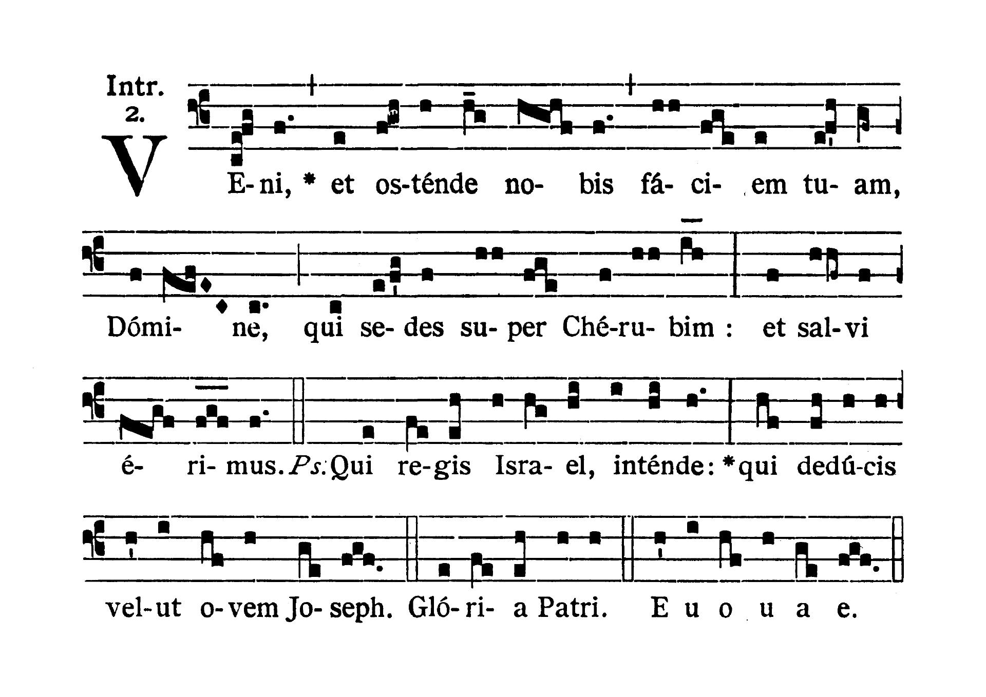 Sabbato Quatuor Temporum Adventus (sobota suchych dni Adwentu) - Introitus (Veni et ostende nobis)