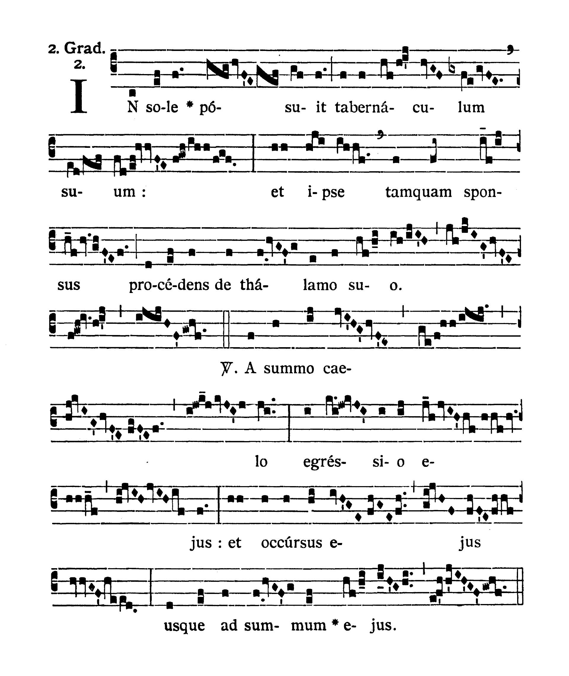 Sabbato Quatuor Temporum Adventus (sobota suchych dni Adwentu) - Graduale (In sole posuit)