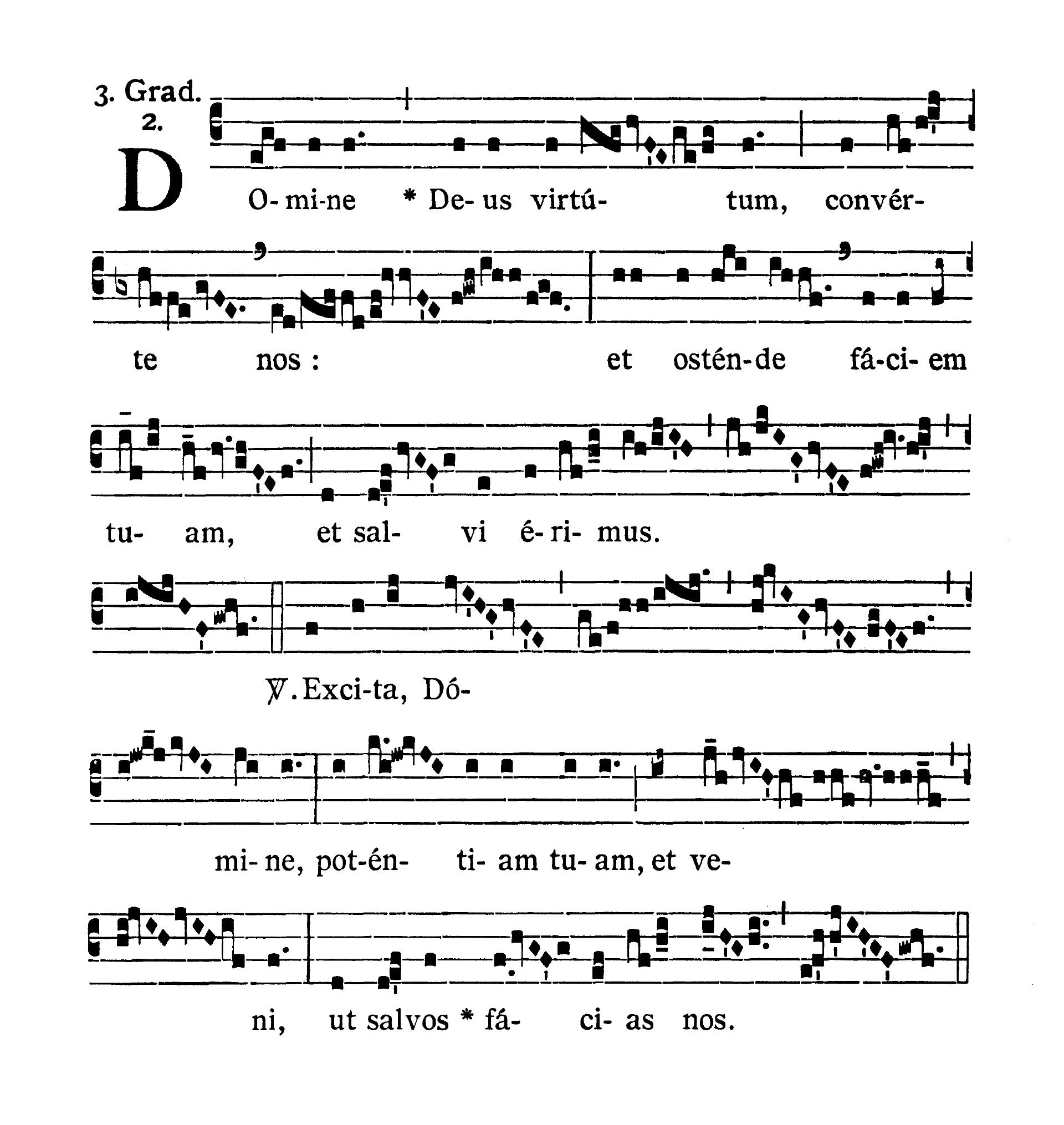 Sabbato Quatuor Temporum Adventus (sobota suchych dni Adwentu) - Graduale (Domine Deus virtutum)