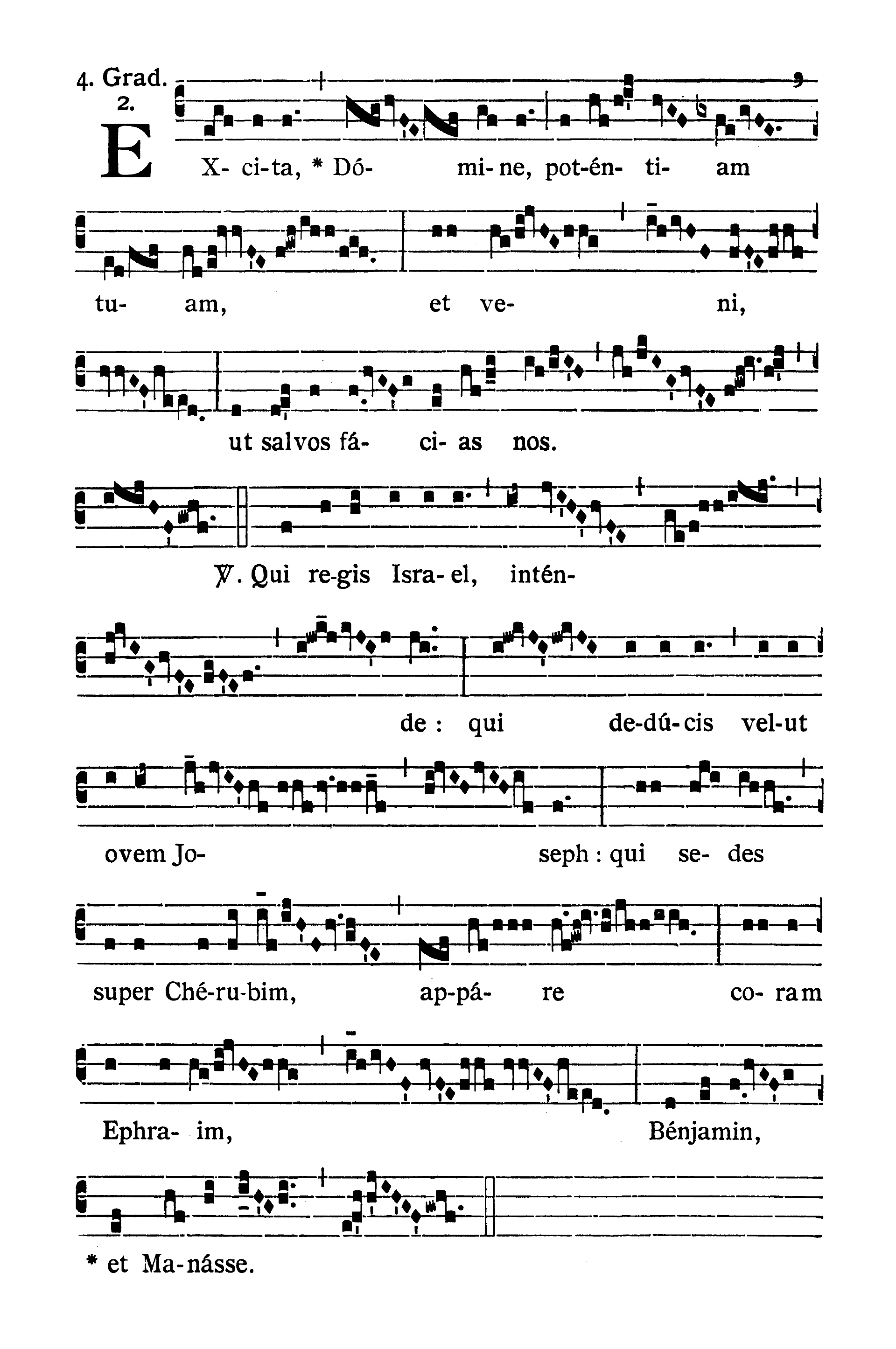 Sabbato Quatuor Temporum Adventus (sobota suchych dni Adwentu) - Graduale (Excita Domine)