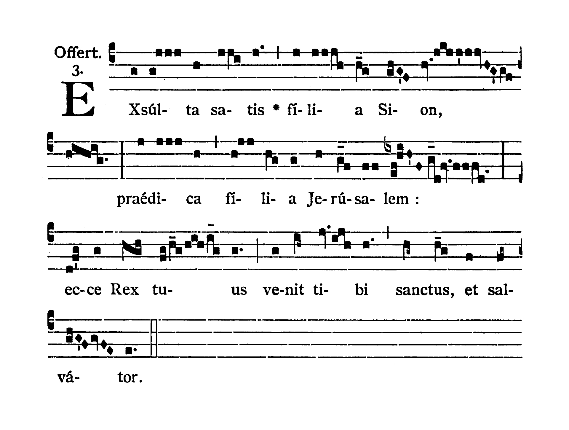 Sabbato Quatuor Temporum Adventus (Ember Saturday of Advent) - Offertorium (Exsulta satis)