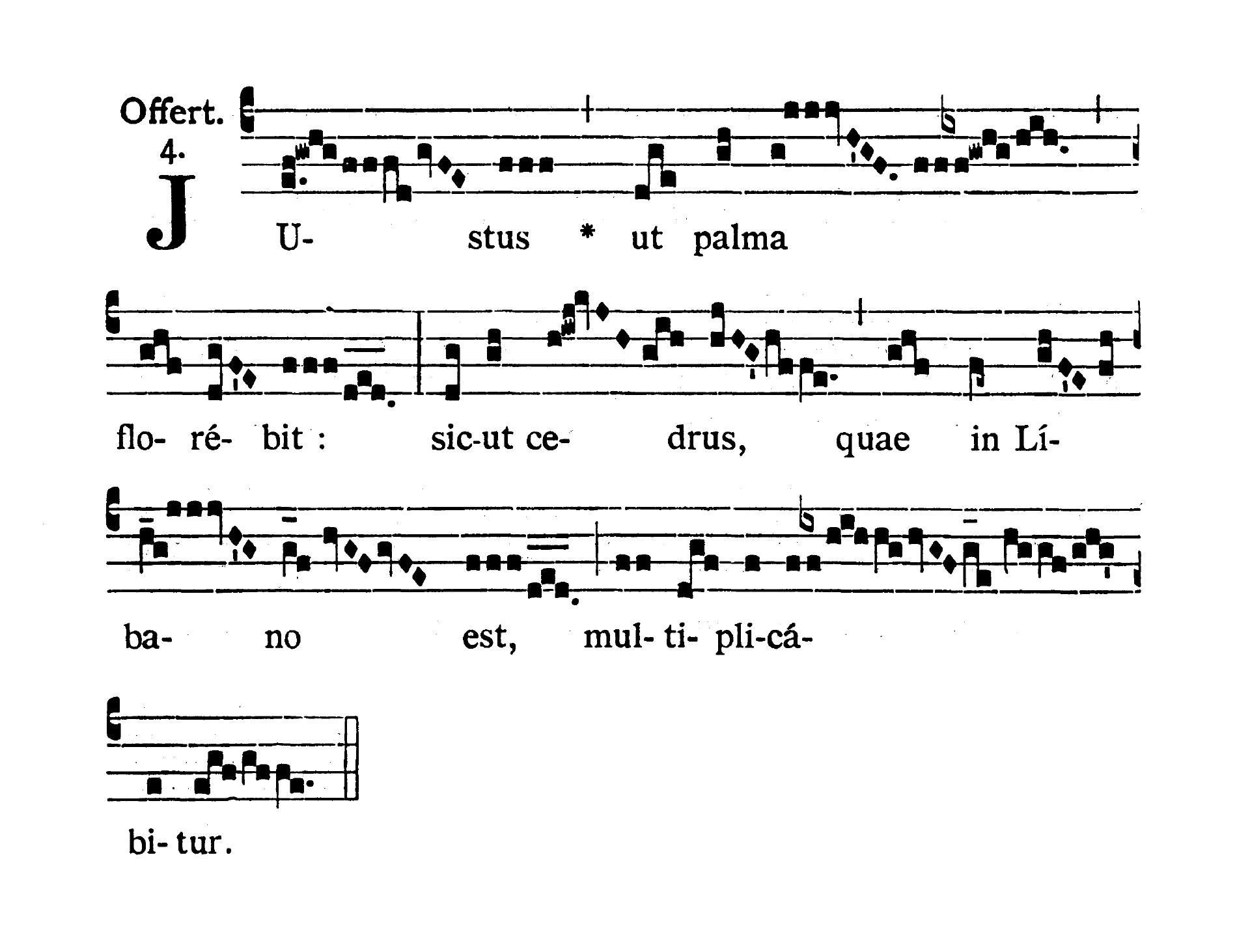 Sancti Joannis Apostoli et Evangelistae (St. John the Evangelist, Apostle) - Offertorium (Justus ut palma)