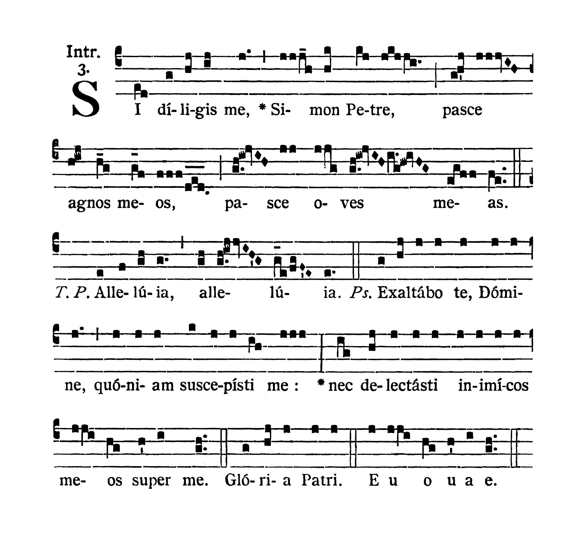 Sancti Silvestri I Papae et Confessoris (Świętego Sylwestra I Papieża i Wyznawcy) - Introitus (Si diligis me)