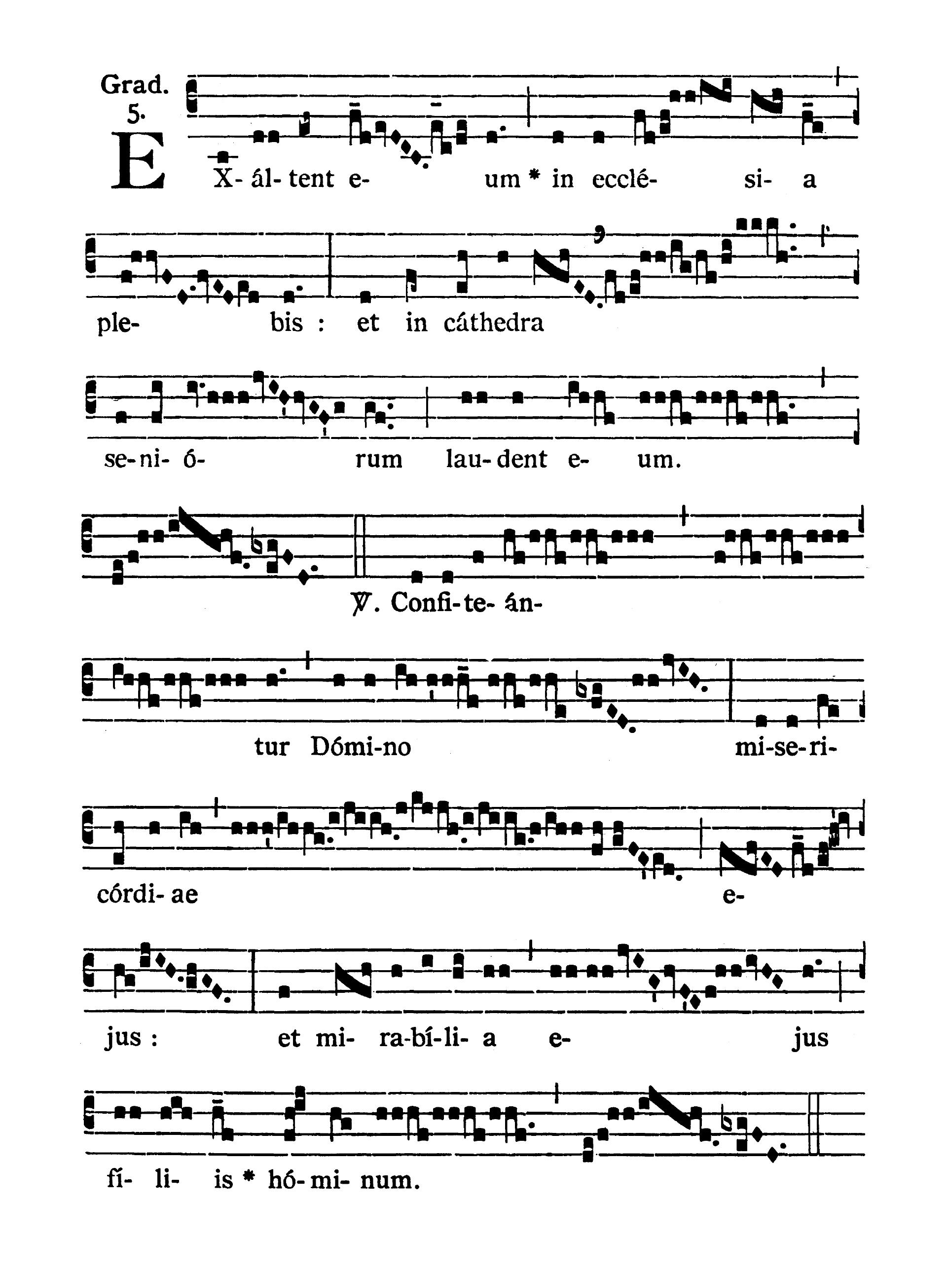 Sancti Telesphori Papae et Martyris (Świętego Telesfora Papieża i Męczennika) - Graduale (Exaltent eum)