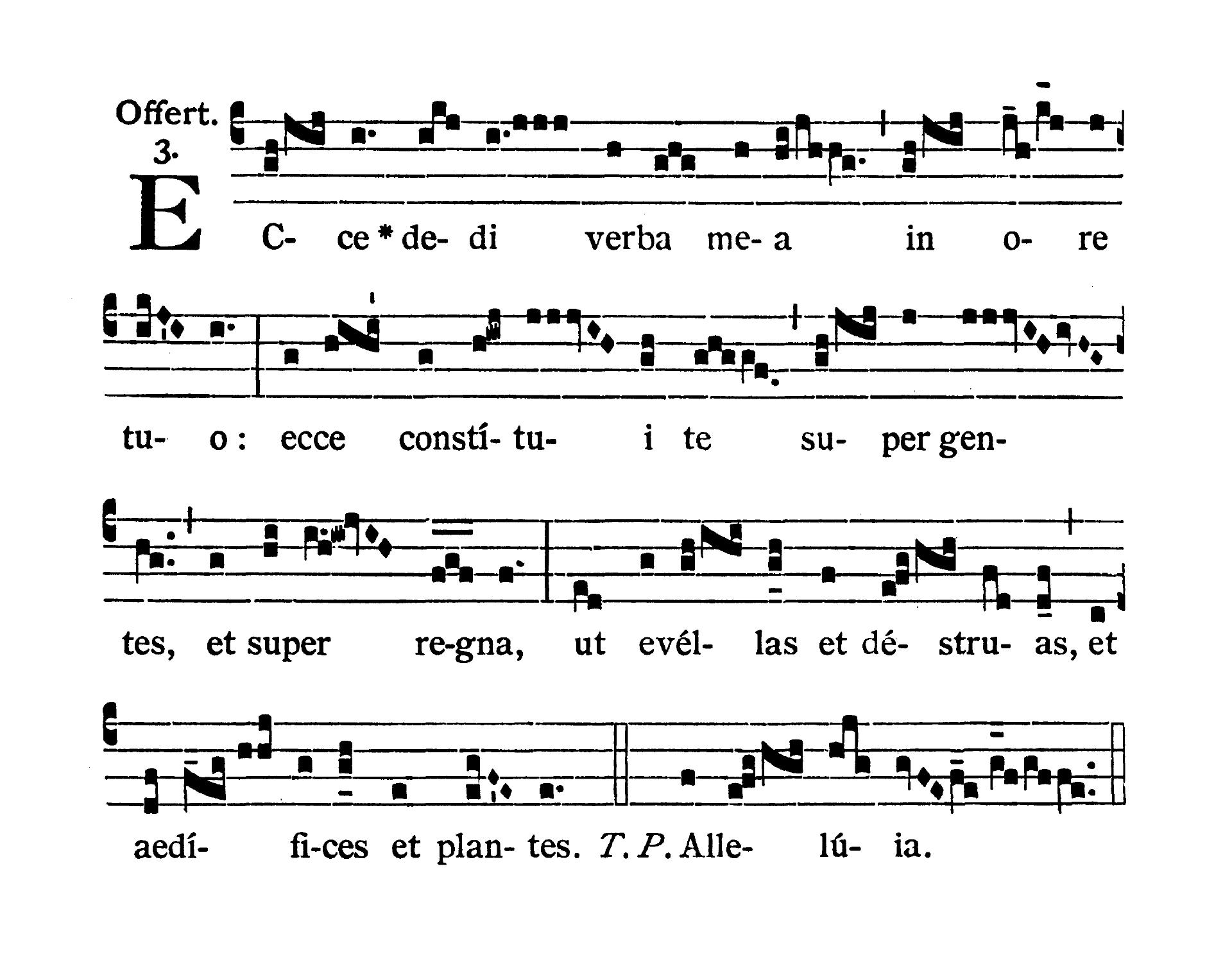 Sancti Telesphori Papae et Martyris (Świętego Telesfora Papieża i Męczennika) - Offertorium (Ecce dedi)