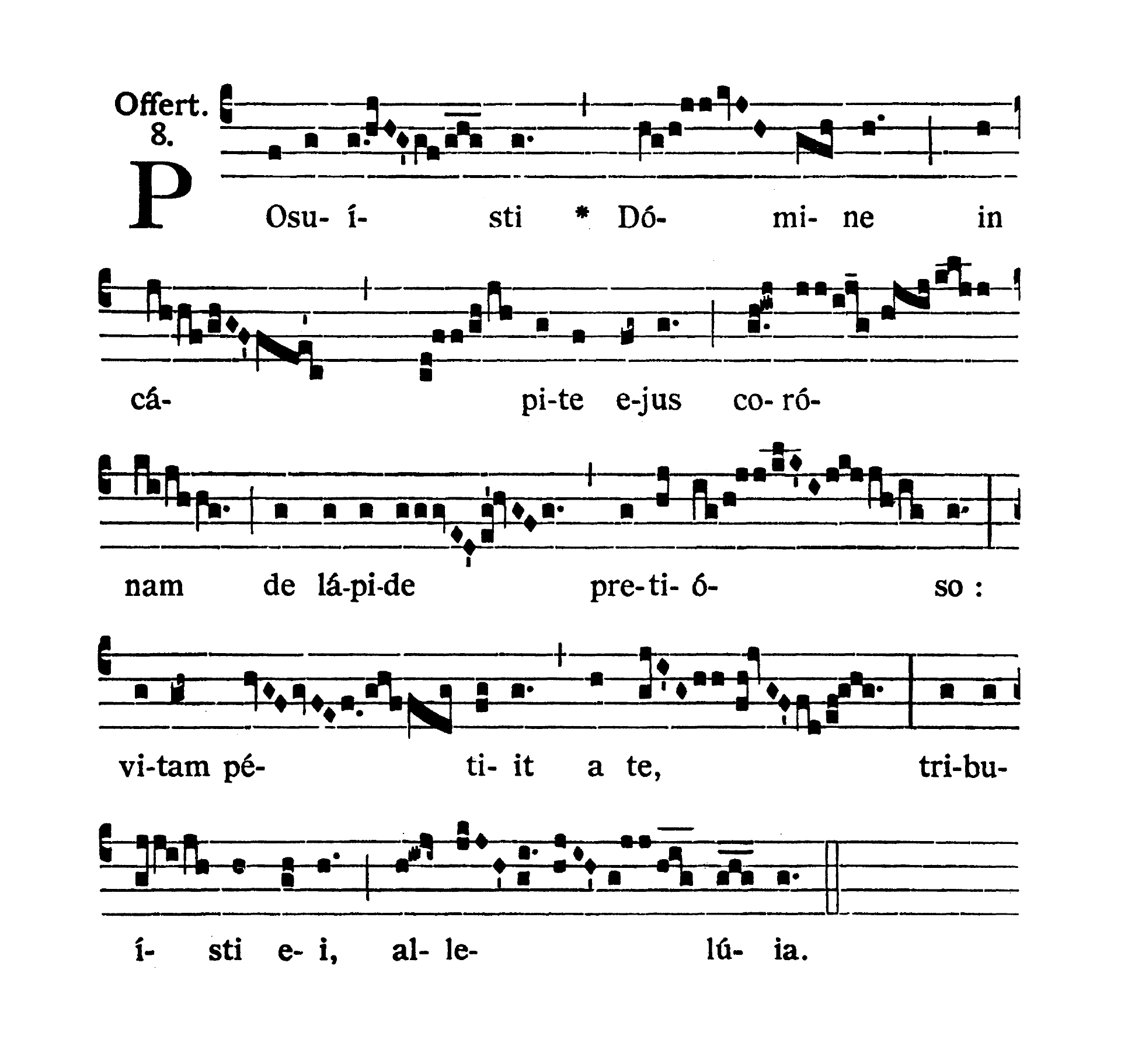 Sancti Thomae Episcopi et Martyris (Świętego Tomasza Apostoła i Męczennika) - Offertorium (Posuisti Domine)