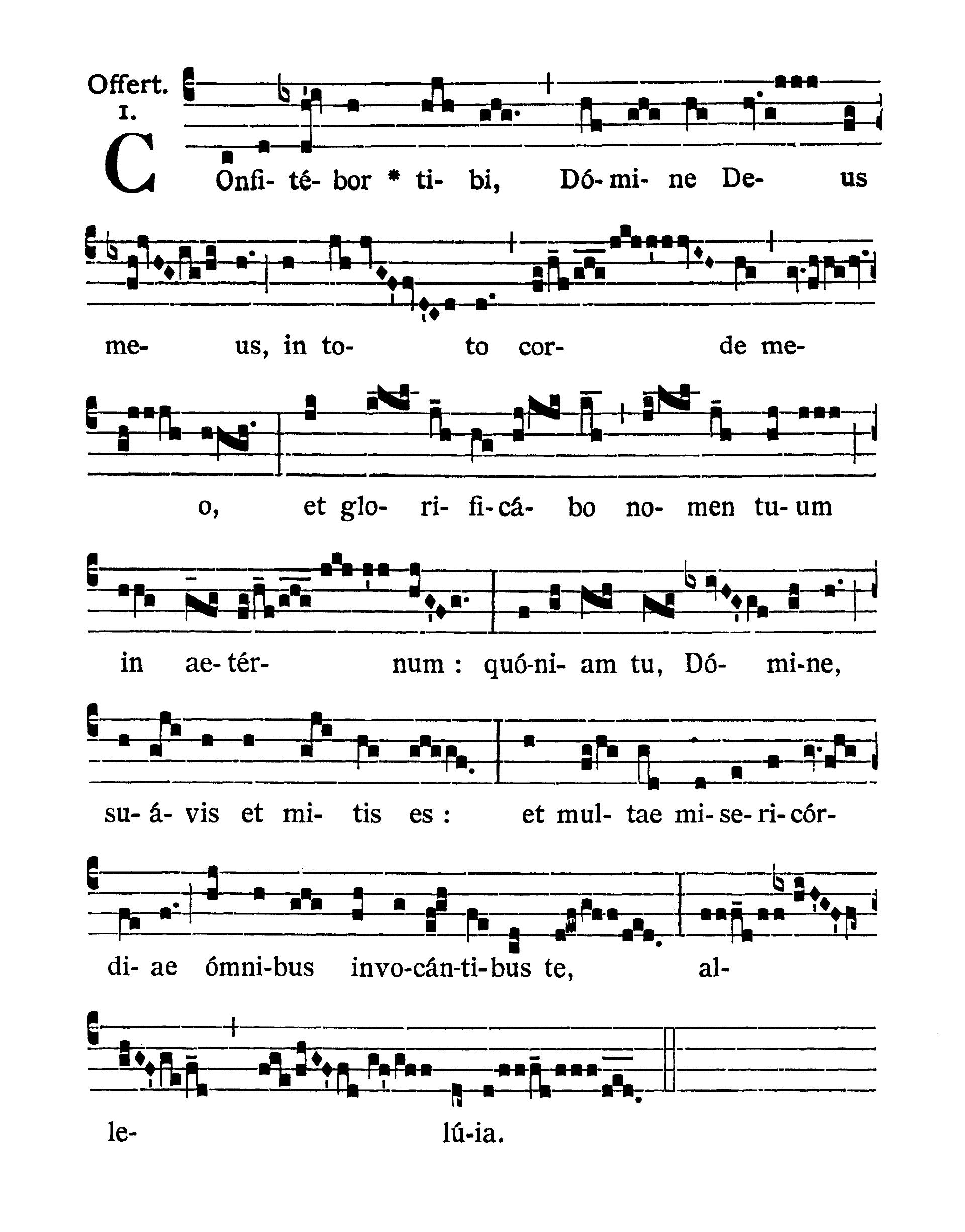 Sanctissimi Nominis Jesu (Najświętszego Imienia Jezus) - Offertorium (Confitebor tibi Domine)