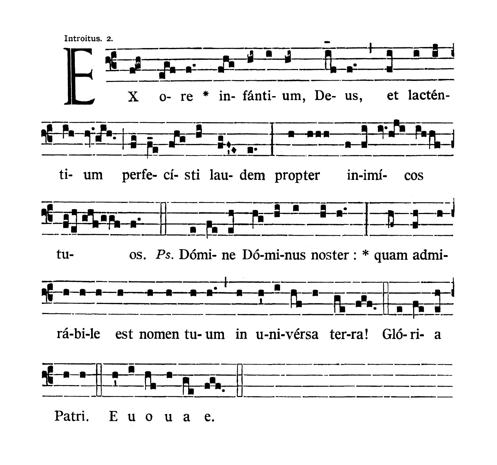 Sanctorum Innocentium (Świętych Młodzianków Męczenników) - Introitus (Ex ore infantium)