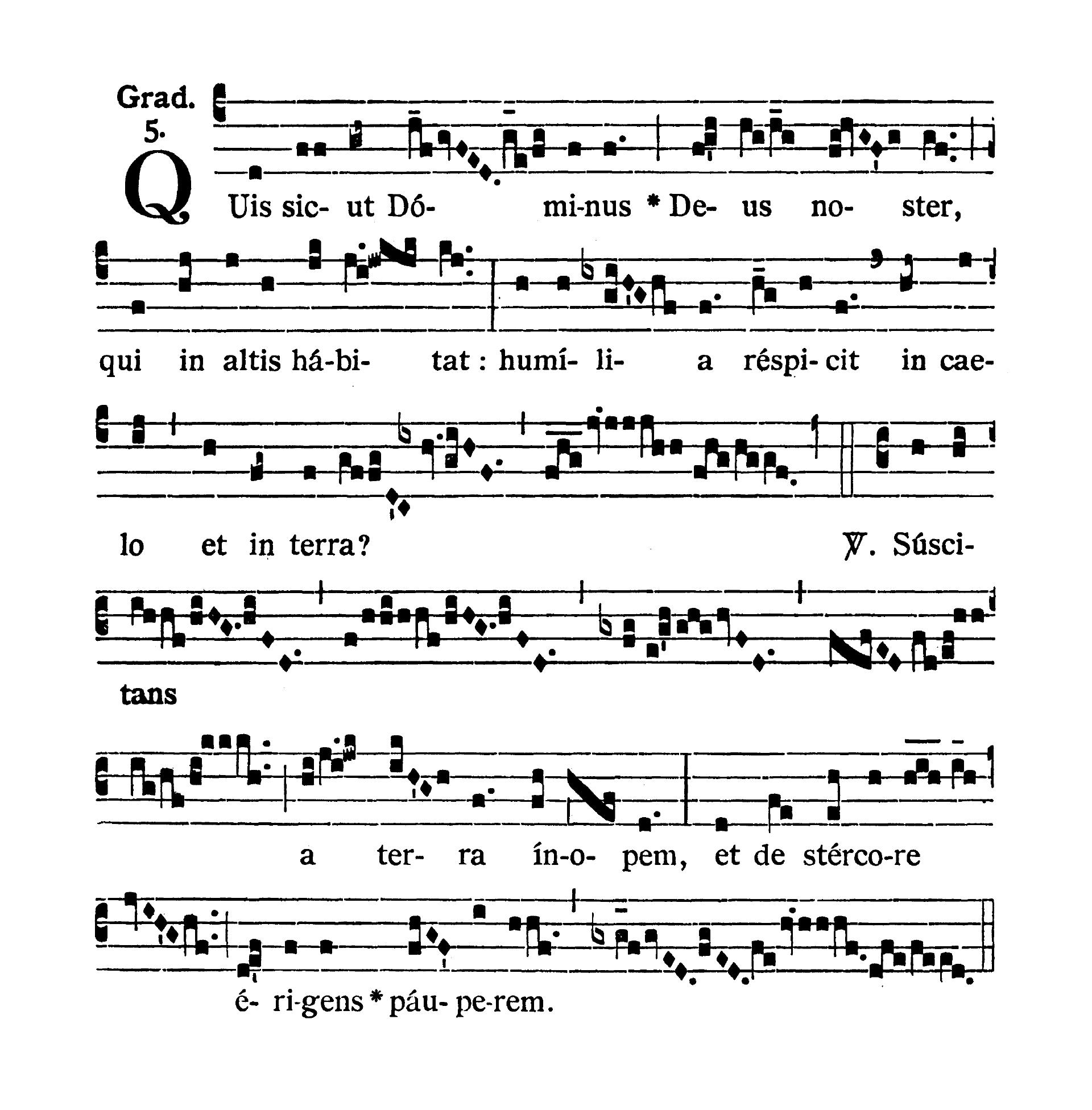 Feria IV Quatuor Temporum Septembris (Środa suchych dni wrześniowych) - Graduale (Quis sicut Dominus)
