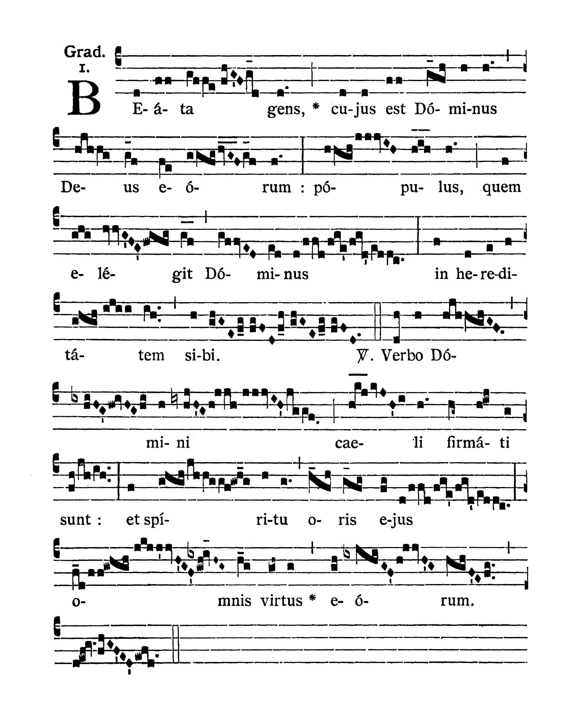 Feria IV Quatuor Temporum Septembris (Środa suchych dni wrześniowych) - Graduale (Beata gens)
