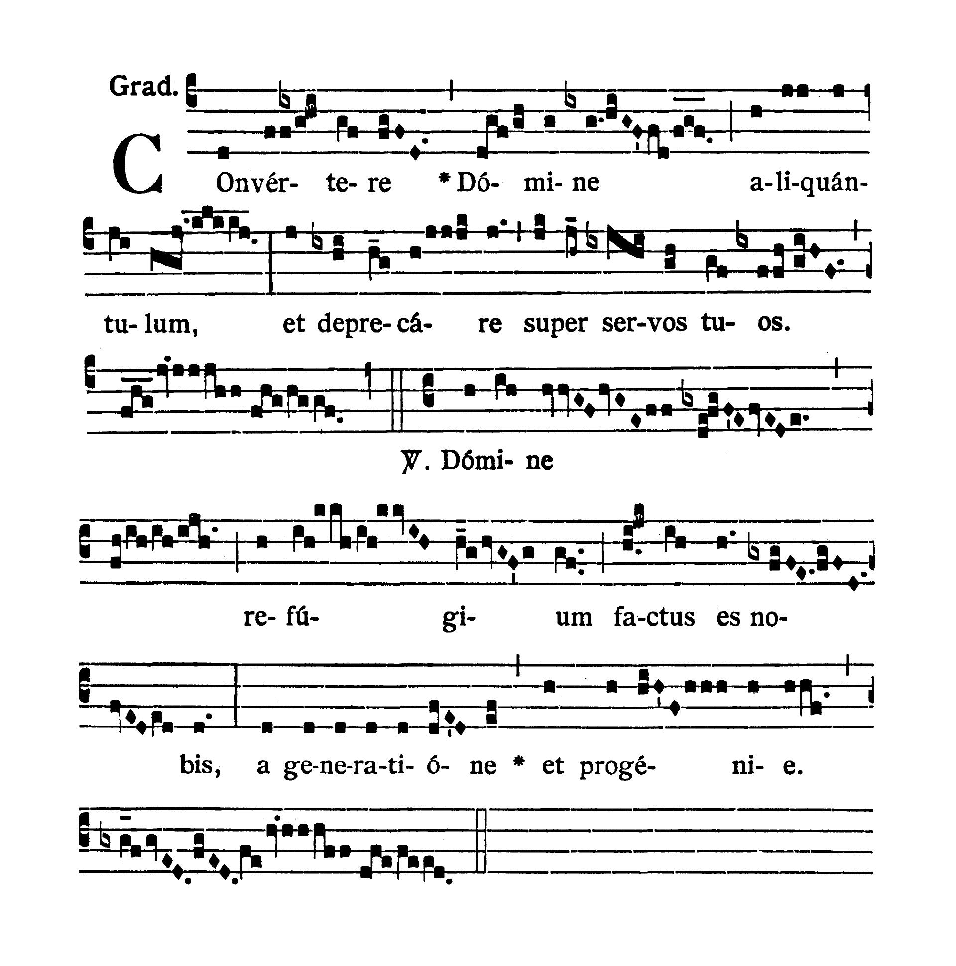 Feria VI Quatuor Temporum Septembris (Piątek suchych dni wrześniowych) - Graduale (Convertere Domine)
