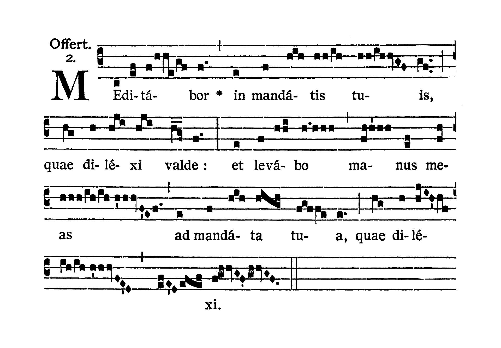 Feria VI Quatuor Temporum Septembris (Piątek suchych dni wrześniowych) - Offertorium (Benedic anima mea)