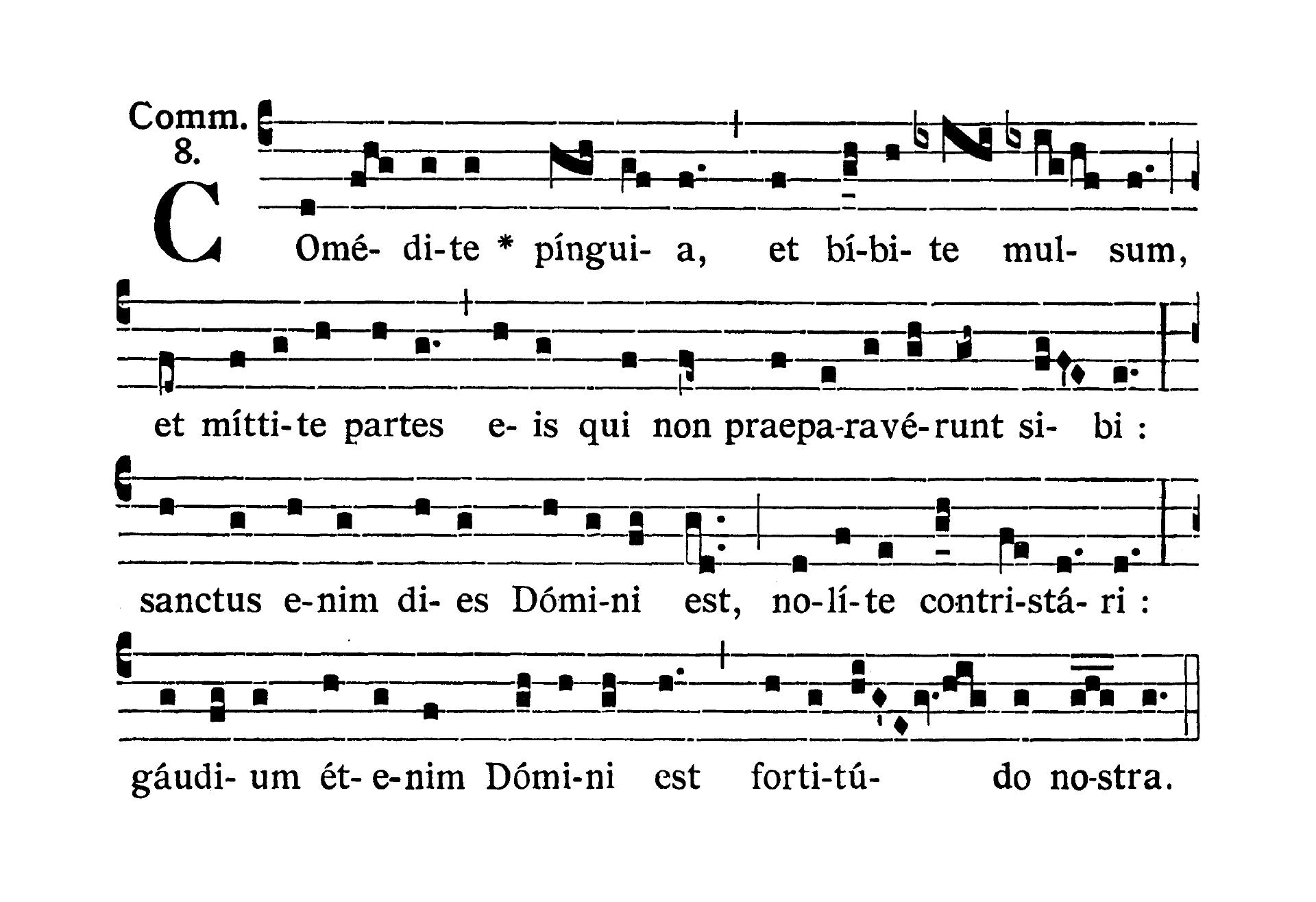 Feria VI Quatuor Temporum Septembris (Piątek suchych dni wrześniowych) - Communio (Aufer a me)