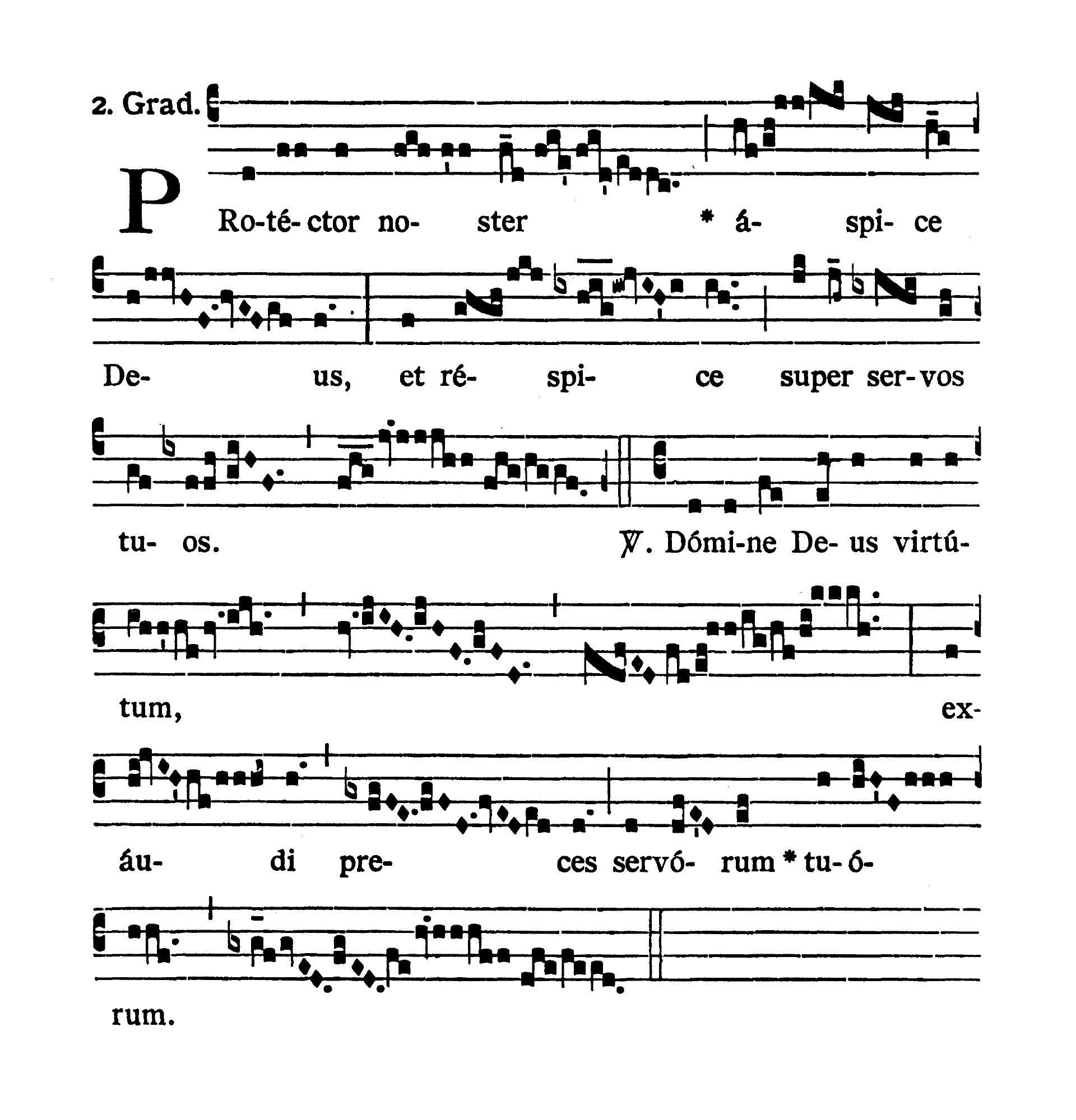 Sabbato Quatuor Temporum Septembris (Sobota suchych dni wrześniowych) - Graduale (Protector noster)