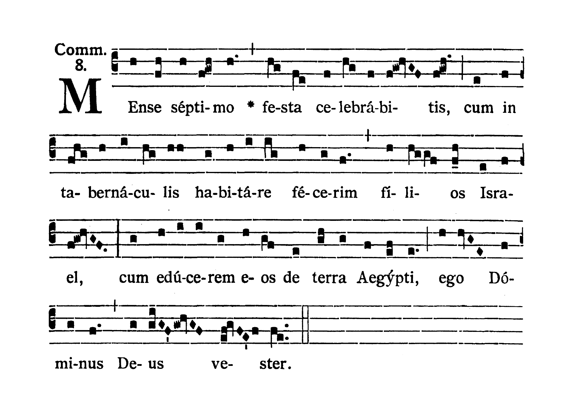 Sabbato Quatuor Temporum Septembris (Ember Saturday of September) - Communio (Mense septimo)