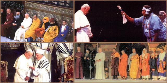 Antypapież Jan Paweł II był bardzo zadowolony modląc się z animistami i sekciarzami