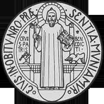 Medalik św. Benedykta fałszywy (awers)