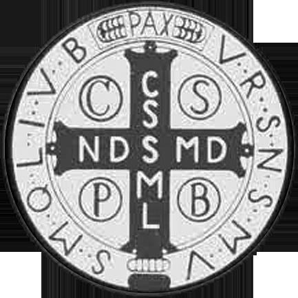Medalik św. Benedykta fałszywy (rewers)