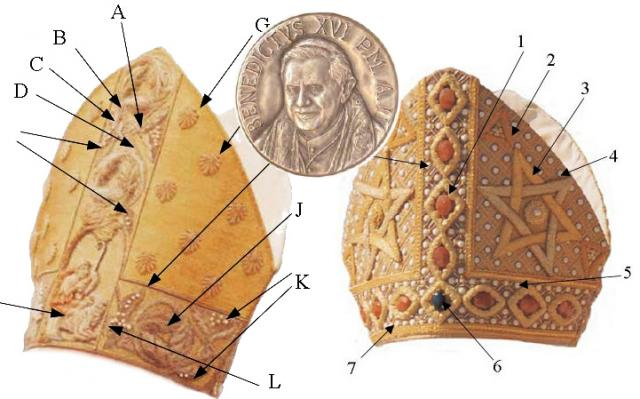 Satanistyczne mitry antypapieża Benedykta XVI