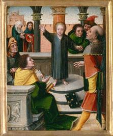 Iesus puer in templo inter doctores invenitur
