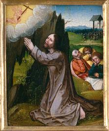 Iesus Christus, in horto orans, sanguinem sudat