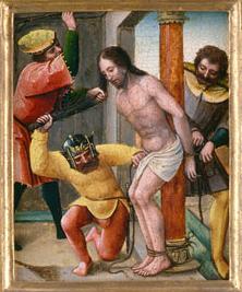 Iesus Christus ad columnam flagellis caeditur
