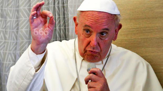 Bergoglio under the 666 sign