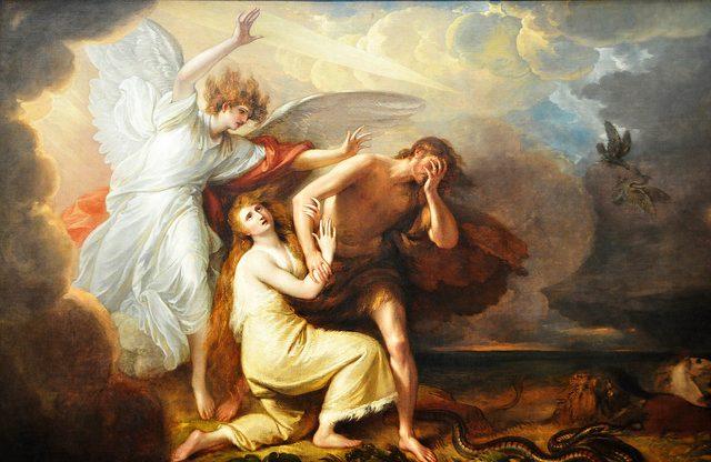 Adam i Ewa wygnani z raju