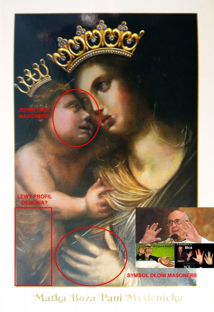 Matka Boża Pani Myślenicka - masoński obraz