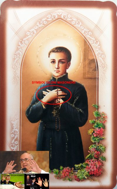 Św Stanisław Kostka - masoński obraz